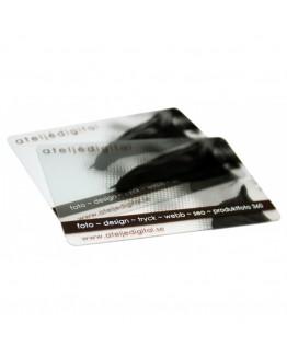 Transparente plastkort